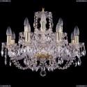 1406/8+4/195/G Хрустальная подвесная люстра Bohemia Ivele Crystal (Богемия)