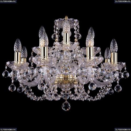 1406/8+4/195/G/Balls Хрустальная подвесная люстра Bohemia Ivele Crystal