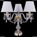 1406L/3/141-39/G/SH13A-160 Хрустальная настольная лампа Bohemia Ivele Crystal