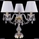 1406L/3/141-39/G/SH2A-160 Хрустальная настольная лампа Bohemia Ivele Crystal