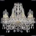 1411/10/160/G Хрустальная подвесная люстра Bohemia Ivele Crystal