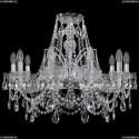 1411/10/240/Ni Хрустальная подвесная люстра Bohemia Ivele Crystal