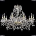 1411/10/300/G Хрустальная подвесная люстра Bohemia Ivele Crystal (Богемия)