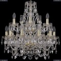 1411/10+5/195/2d/G Хрустальная подвесная люстра Bohemia Ivele Crystal (Богемия)