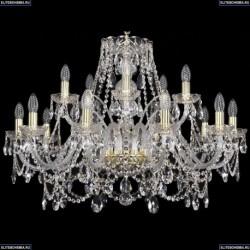 1411/10+5/300/G Хрустальная подвесная люстра Bohemia Ivele Crystal