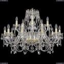 1411/10+5/300/G Хрустальная подвесная люстра Bohemia Ivele Crystal (Богемия)