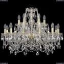 1411/12+6/240/G Хрустальная подвесная люстра Bohemia Ivele Crystal
