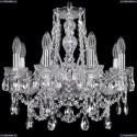 1411/8/160/Ni Хрустальная подвесная люстра Bohemia Ivele Crystal