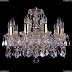 1413/10/165/G/Leafs Хрустальная подвесная люстра Bohemia Ivele Crystal