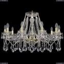 1413/10/300/G Хрустальная подвесная люстра Bohemia Ivele Crystal