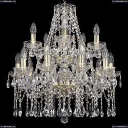 1413/10+5/200/2d/G Хрустальная подвесная люстра Bohemia Ivele Crystal