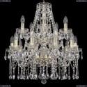 1413/10+5/200/2d/G Хрустальная подвесная люстра Bohemia Ivele Crystal (Богемия)