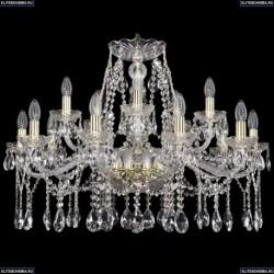 1413/10+5/300/G Хрустальная подвесная люстра Bohemia Ivele Crystal