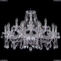 1413/10+5/300/Ni Хрустальная подвесная люстра Bohemia Ivele Crystal