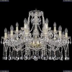 1413/12+6/300/G Хрустальная подвесная люстра Bohemia Ivele Crystal (Богемия)