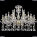 1413/12+6/300/G Хрустальная подвесная люстра Bohemia Ivele Crystal