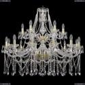 1413/12+6/360/2d/G Хрустальная подвесная люстра Bohemia Ivele Crystal