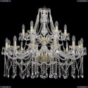 1413/12+6/360-85/2d/G Хрустальная подвесная люстра Bohemia Ivele Crystal (Богемия)