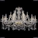 1413/12+6/360/G Хрустальная подвесная люстра Bohemia Ivele Crystal