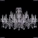 1413/12+6/360/Ni Хрустальная подвесная люстра Bohemia Ivele Crystal (Богемия)