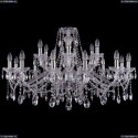 1413/12+6/360/Ni Хрустальная подвесная люстра Bohemia Ivele Crystal