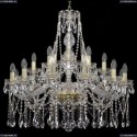 1413/12+6+3/300/G Хрустальная подвесная люстра Bohemia Ivele Crystal (Богемия)