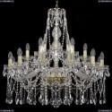 1413/12+6+3/300/G Хрустальная подвесная люстра Bohemia Ivele Crystal
