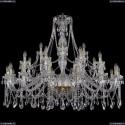 1413/16+8+4/460/G Большая хрустальная люстра Bohemia Ivele Crystal
