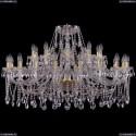 1413/20+10/400/G Хрустальная подвесная люстра Bohemia Ivele Crystal