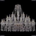 1413/24+12+6/460/G Хрустальная большая люстра Bohemia Ivele Crystal