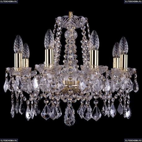 1413/8/165/G/Leafs Хрустальная подвесная люстра Bohemia Ivele Crystal