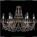 1702/6/C/GB/Leafs Хрустальная подвесная люстра Bohemia Ivele Crystal (Богемия)