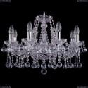 1413/8/200/Ni/Balls Хрустальная подвесная люстра Bohemia Ivele Crystal