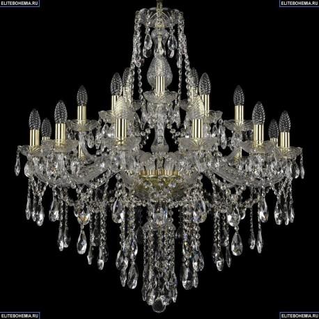 1415/12+6+3/300/G Хрустальная подвесная люстра Bohemia Ivele Crystal