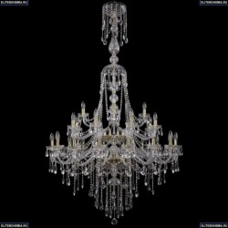 1415/16+8+4/400/XL-185/2d/G Большая хрустальная подвесная люстра Bohemia Ivele Crystal