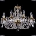 1606/10/240/GB Хрустальная подвесная люстра Bohemia Ivele Crystal