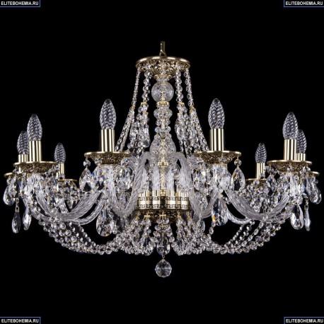 1606/10/300/GB Хрустальная подвесная люстра Bohemia Ivele Crystal