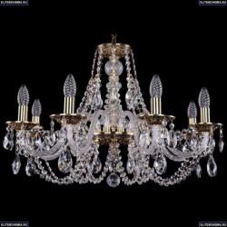 1606/8/240/GB Хрустальная подвесная люстра Bohemia Ivele Crystal