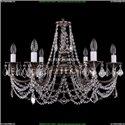 1702/6/250/C/NB/Leafs Хрустальная подвесная люстра Bohemia Ivele Crystal