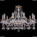 1613/10/300/FP Хрустальная подвесная люстра Bohemia Ivele Crystal