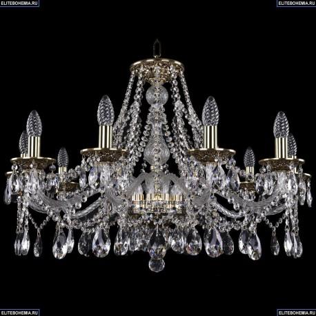 1613/10/300/GB Хрустальная подвесная люстра Bohemia Ivele Crystal