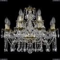 1613/8+4/200/GB Хрустальная подвесная люстра Bohemia Ivele Crystal