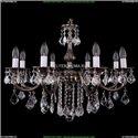1702/8/250/B/NB/Leafs Хрустальная подвесная люстра Bohemia Ivele Crystal
