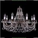 1702/8/C/NB/Balls Хрустальная подвесная люстра Bohemia Ivele Crystal (Богемия)