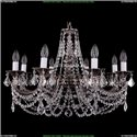 1702/8/250/C/NB/Leafs Хрустальная подвесная люстра Bohemia Ivele Crystal
