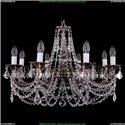 1702/8/C/NB/Leafs Хрустальная подвесная люстра Bohemia Ivele Crystal (Богемия)