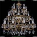 1702/10+5+5/265-68/A/GB Большая хрустальная подвесная люстра Bohemia Ivele Crystal