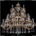 1702/10+10+5+5/335/A/GB Большая хрустальная подвесная люстра Bohemia Ivele Crystal