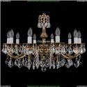1702/10/A/GB/Leafs Хрустальная подвесная люстра Bohemia Ivele Crystal (Богемия)