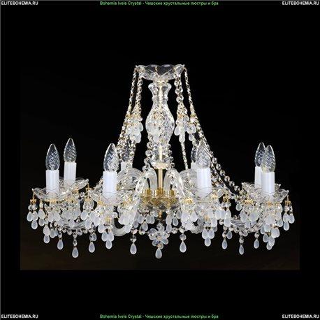 1410.8.240 (0300) Bohemia Ivele Crystal, Чешская Подвесная люстра с хрустальным рожком